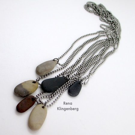 Make Beach Stone Necklaces - Tutorial by Rena Klingenberg