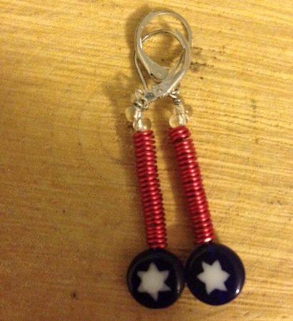 Wire Earrings by Mckenzie  - featured on Jewelry Making Journal