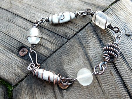 Wired Beads - Bracelet by Lynda Carson  - featured on Jewelry Making Journal