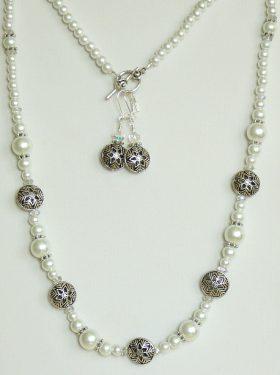 Winter Wonderland Jewelry Set with Snowflake Beads