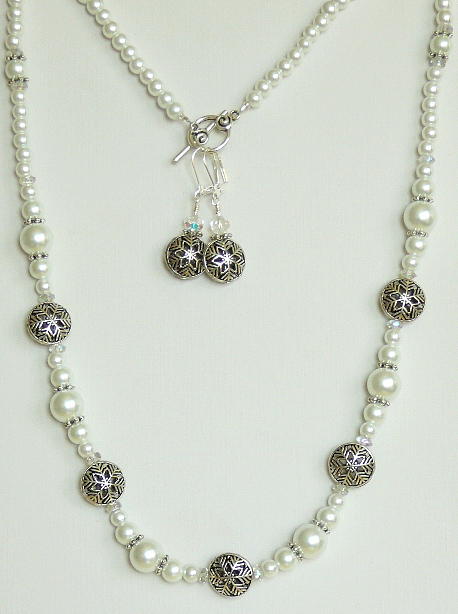 Winter Wonderland Jewelry Set with Snowflake Beads