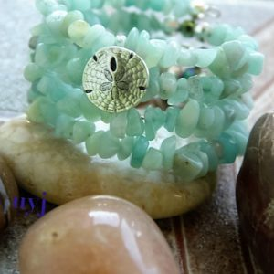 Reflections of the Sea – Amazonite Chips Bracelet