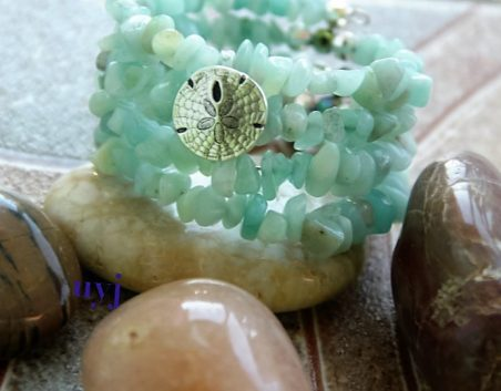 Reflections of the Sea - Amazonite Chips Bracelet by Natasha Mayers  - featured on Jewelry Making Journal