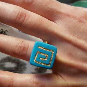 Ring with Greek Symbol Meandros