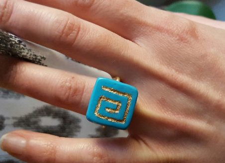 Ring with Greek Symbol Meandros, by Maria Mavromichalou  - featured on Jewelry Making Journal