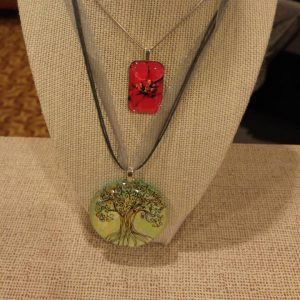 Two Glass Tile Necklaces