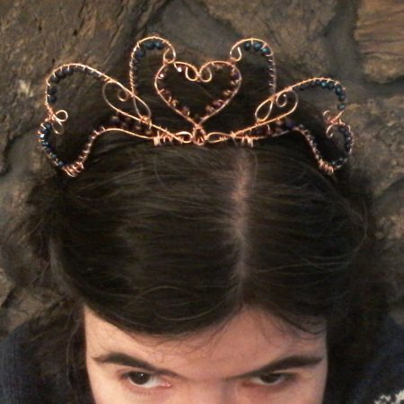 Wirework Tiara by Monica Olin  - featured on Jewelry Making Journal