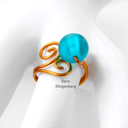 Bead & Scroll Adjustable Wire Ring (Tutorial)