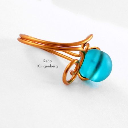 Bending wire for Bead and Scroll Adjustable Wire Ring - Tutorial by Rena Klingenberg