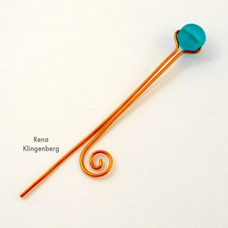 Making wire spiral for Bead and Scroll Adjustable Wire Ring - Tutorial by Rena Klingenberg