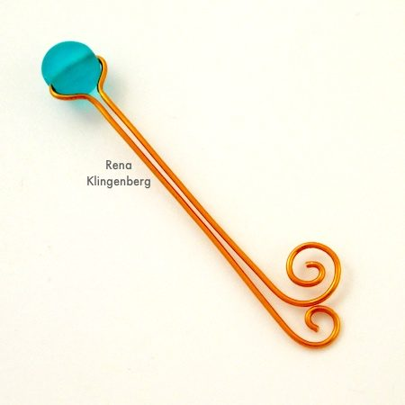 Making wire spirals for Bead and Scroll Adjustable Wire Ring - Tutorial by Rena Klingenberg