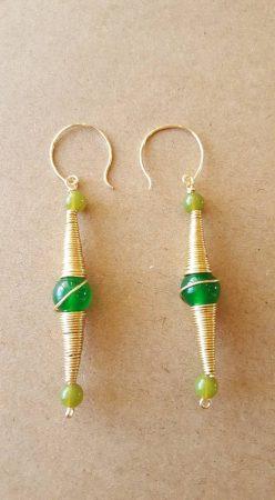 Brass earrings by David Kresge  - featured on Jewelry Making Journal