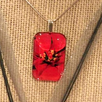 Two Glass Tile Necklaces by Natasha Papousek  - featured on Jewelry Making Journal