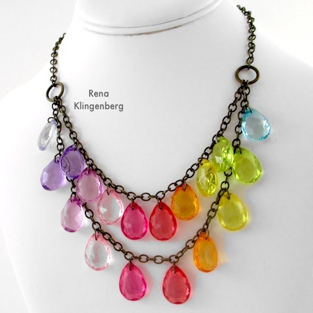 Two-Tier Bib Necklace - Tutorial by Rena Klingenberg