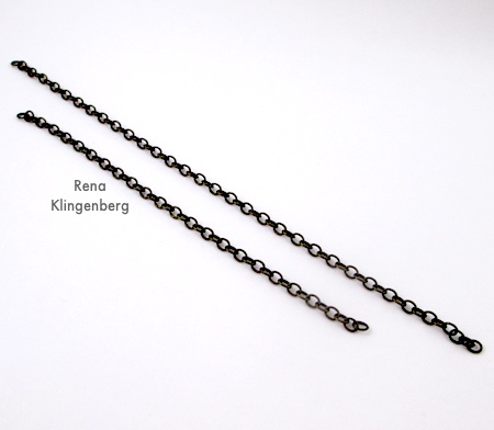 Chains for Two-Tier Bib Necklace - Tutorial by Rena Klingenberg