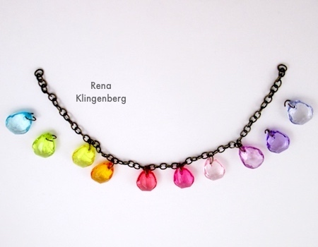 Attaching Beads to Two-Tier Bib Necklace - Tutorial by Rena Klingenberg