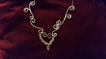 Heart and Swirl Necklace by Christine Carelli  - featured on Jewelry Making Journal