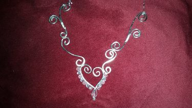 My Heart and Swirl Necklace
