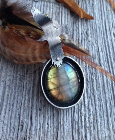 Seek Your True North pendant by Laura-Lee Podmore  - featured on Jewelry Making Journal