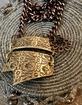 Scrap Metal Necklace by Shirley Gerchman  - featured on Jewelry Making Journal