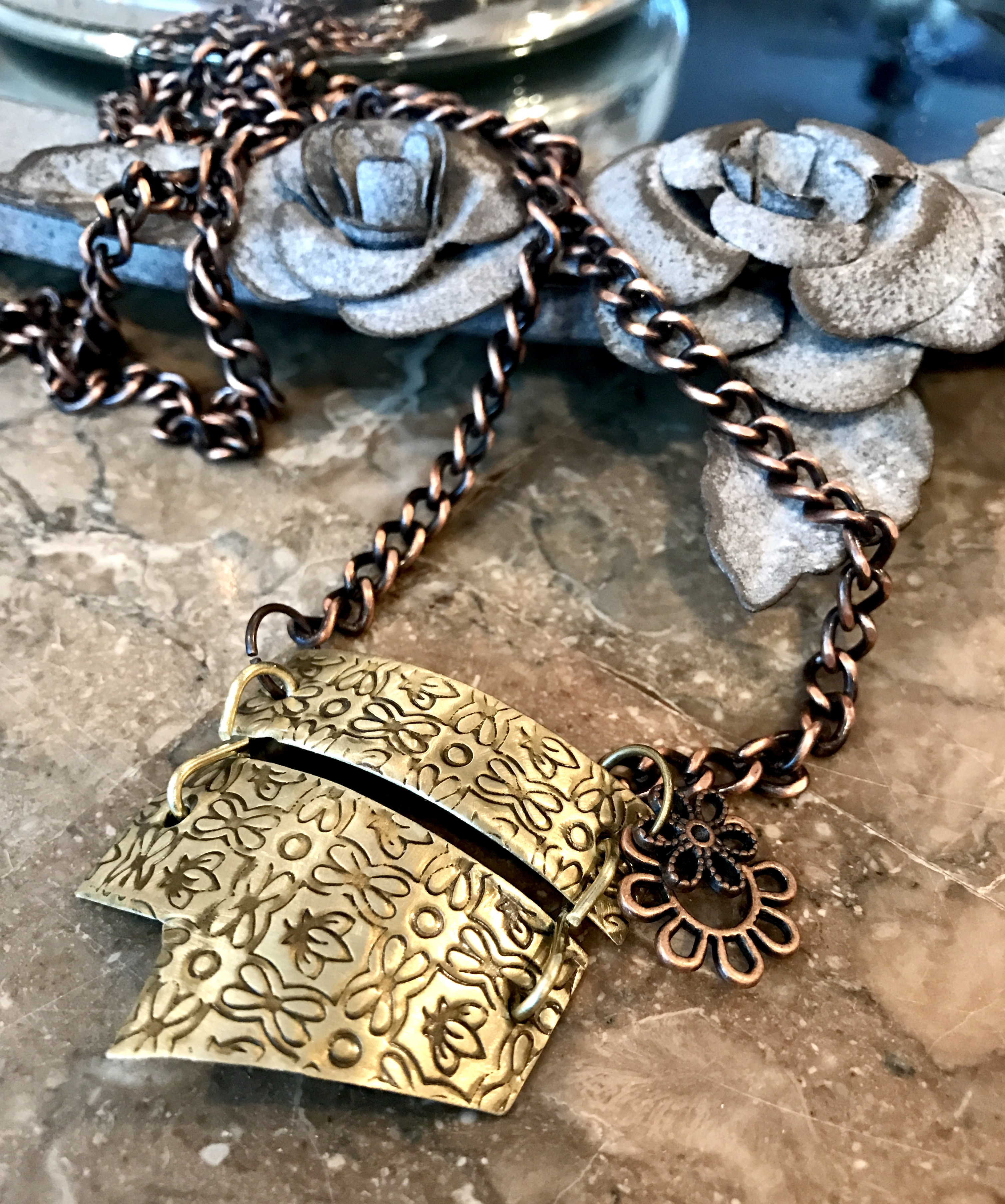 Rugged Scrap Metal Necklace