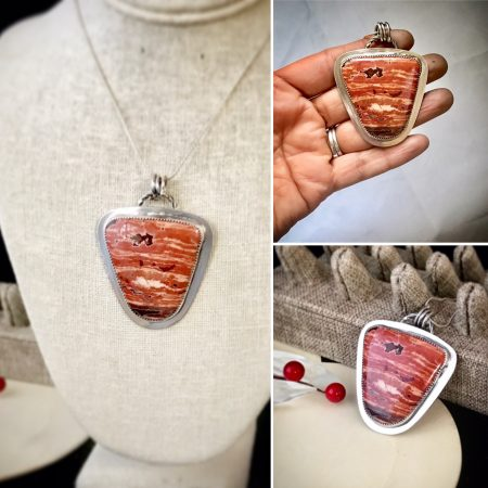 Poppy Jasper Pendant in Sterling Silver by Sonal Karnik  - featured on Jewelry Making Journal