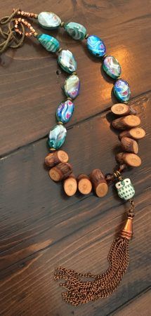Woodland Owl Necklace by Sarah Reid  - featured on Jewelry Making Journal