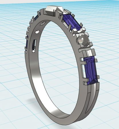 3D Printed Ring Concept Drawing by Duane W Aldrich  - featured on Jewelry Making Journal
