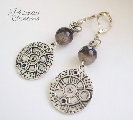 Subtle Steampunk Earrings by Ruhia Sadiq  - featured on Jewelry Making Journal