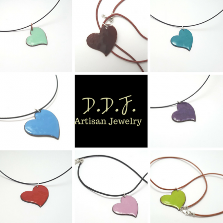 Enamel pendants by Dianne  - featured on Jewelry Making Journal