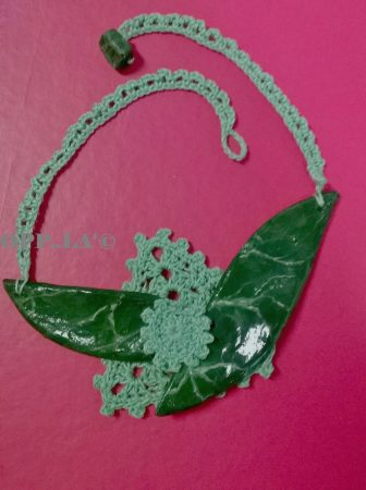 Papier Mache and Crochet Jewelry by Grazia Paretti  - featured on Jewelry Making Journal