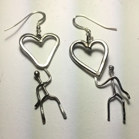 Earrings - Hanging Out for Love by Dana Lea Redding  - featured on Jewelry Making Journal