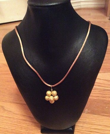 Handmade Flower Pendant Necklace by Katrina  - featured on Jewelry Making Journal