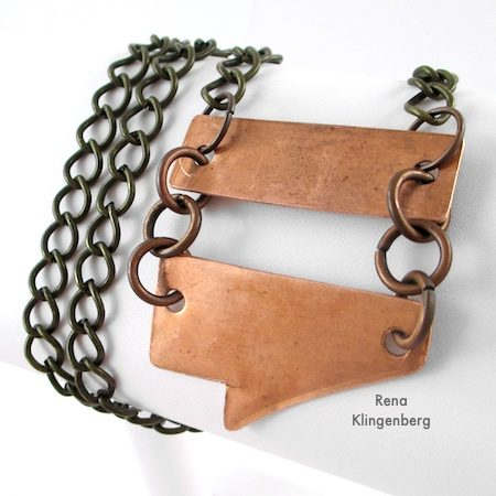 Rugged Scrap Metal Necklace - Tutorial by Rena Klingenberg