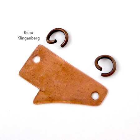 Putting Together Rugged Scrap Metal Necklace - Tutorial by Rena Klingenberg