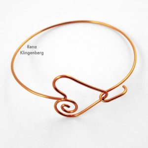 Spiral Heart Wire Bracelet (Tutorial)