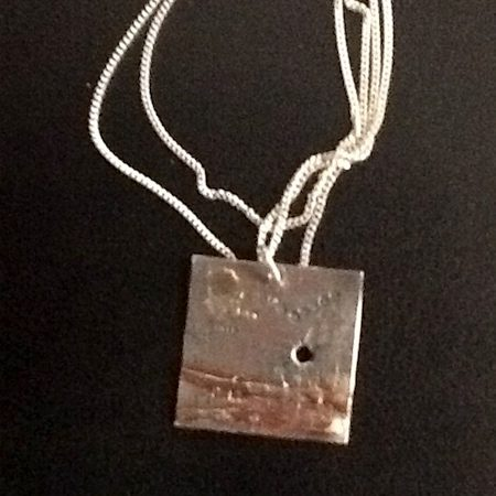 Square pendant by Steve Hand  - featured on Jewelry Making Journal