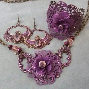 Pretty in Purple – Brass, Patina & Enamel