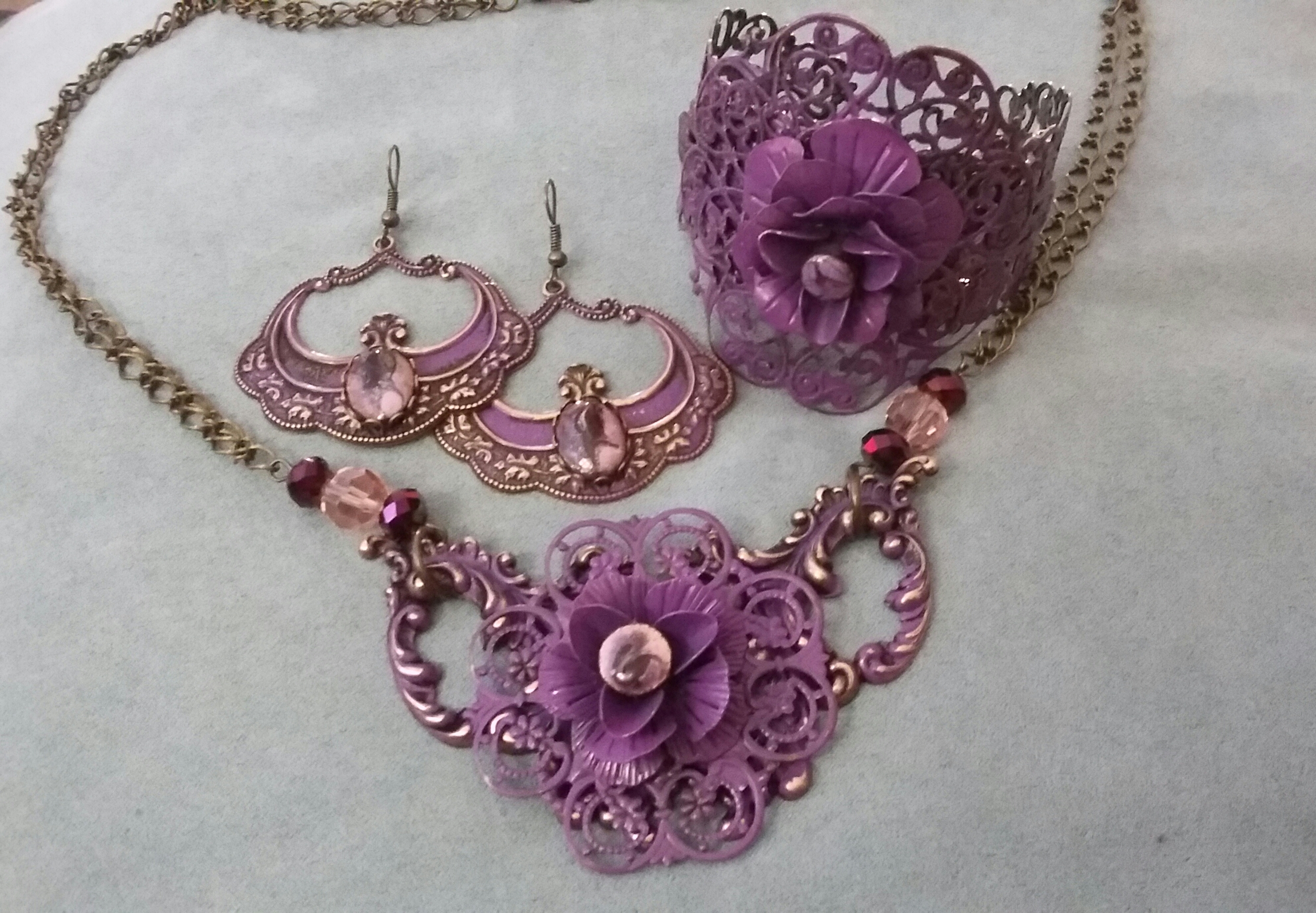 Pretty in Purple – Brass, Patina & Enamel