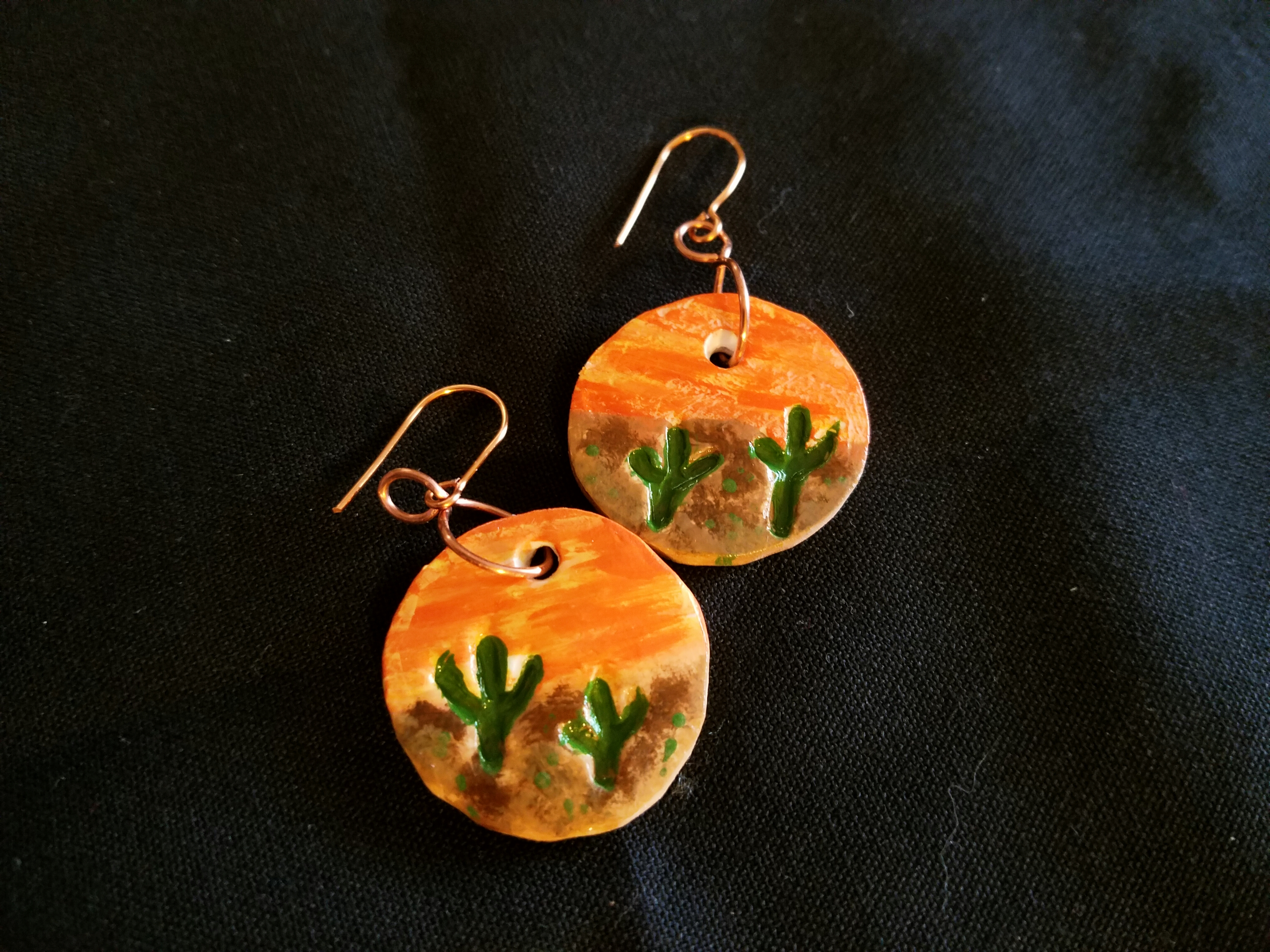 Air Dry Clay Earrings Sunset In Arizona Jewelry Making