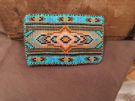 Beaded Belt Buckle by Marlies Bates  - featured on Jewelry Making Journal