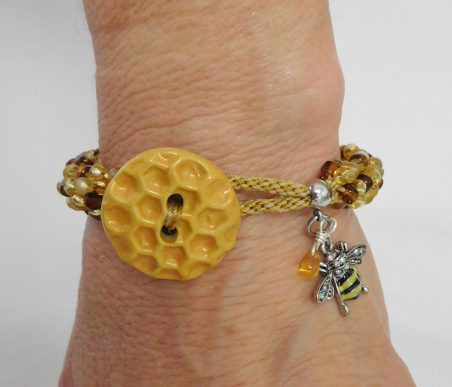 Honey Bee My Bracelet by Regina Pickering  - featured on Jewelry Making Journal
