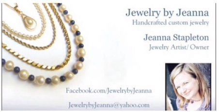 Business Cards for Jewelry by Jeanna -  - featured on Jewelry Making Journal