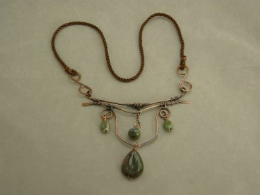 Copper Wire and Ceramic Bead Jewelry – What Tag Words to Describe Them?