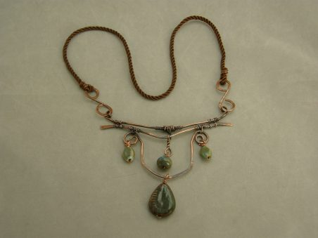 Ceramic bead and copper wire jewelry by Beverly Raznoff  - featured on Jewelry Making Journal