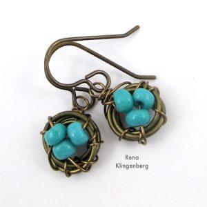 Easy Bird's Nest Wire Earrings (Tutorial)