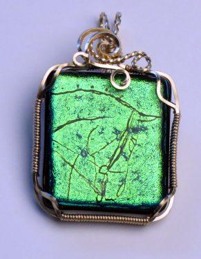 """Green"" Horse Pendant"