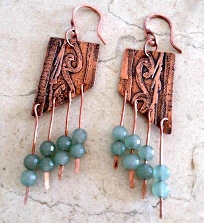 Earrings by María Antonieta Calabacero  - featured on Jewelry Making Journal