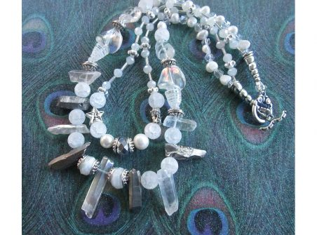 Snowy Splendor Neckace by Jackie  - featured on Jewelry Making Journal