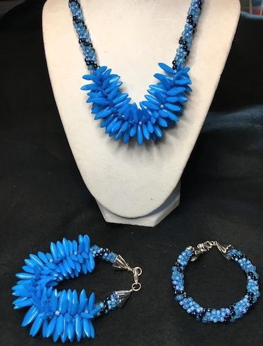 Blue Agave Jewelry Set by Patt Sheldon  - featured on Jewelry Making Journal